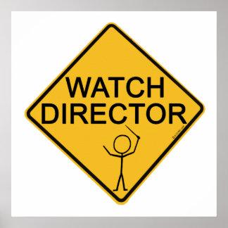 Director del reloj póster