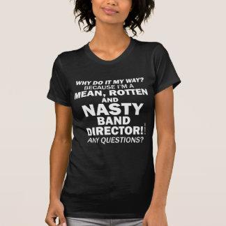 Director desagradable de la banda camisetas