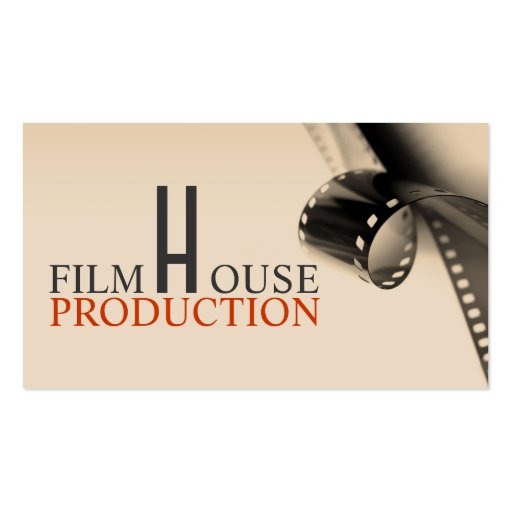 Director Film Movies Producer Production Business Card Template