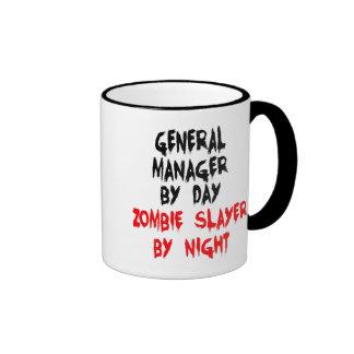 Director general el asesino del zombi tazas de café
