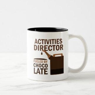 Director Gift de las actividades (divertido) Taza Dos Tonos