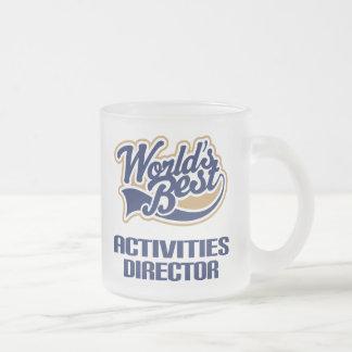 Director Gift (mundos de las actividades mejores) Taza De Cristal