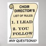 Director impresionante del coro impresiones