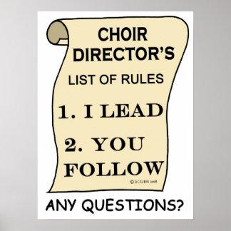 Director impresionante del coro póster