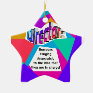 Director ... In Charge? Christmas Ornament