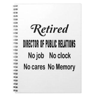 Director jubilado de relaciones públicas ningún notebook