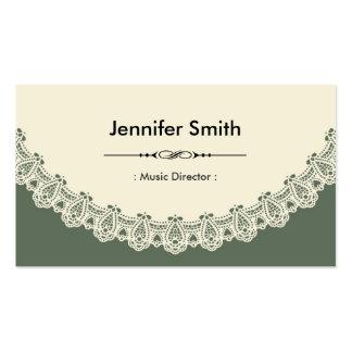 Director musical - cordón elegante retro tarjeta de negocio