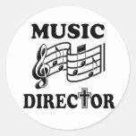 DIRECTOR MUSICAL DE LA IGLESIA PEGATINAS REDONDAS