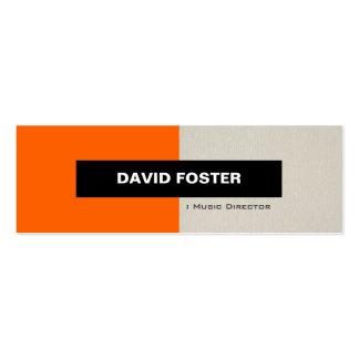 Director musical - elegante elegante simple plantilla de tarjeta de negocio