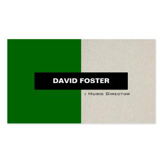 Director musical - elegante elegante simple plantilla de tarjeta personal