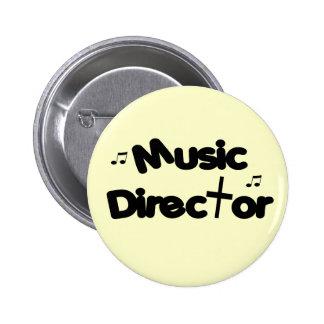 Director musical pin redondo de 2 pulgadas