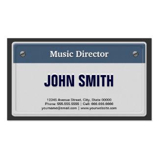 Director musical - placa fresca del coche plantilla de tarjeta de visita