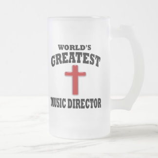 Director musical taza cristal mate