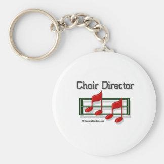 Director Notes del coro Llavero Redondo Tipo Pin