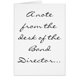 Director of Bands Stationery Note Card