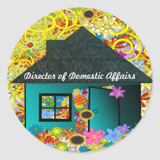 Director of Domestic Operations Round Stickers