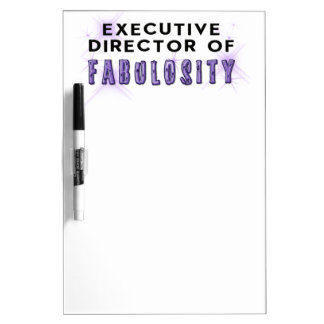 Director of Fabulosity Dry Erase Board