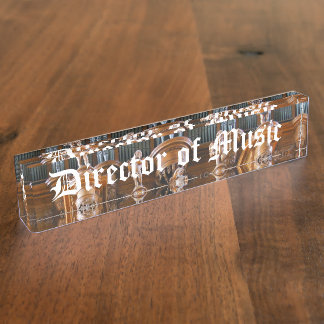 Director of Music Desk Name Plate