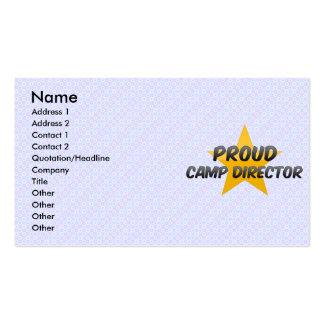 Director orgulloso del campo tarjetas personales