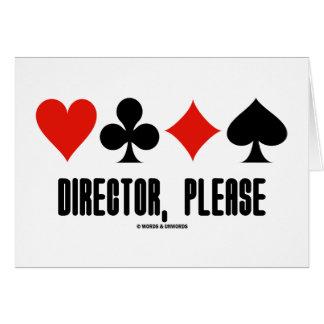 Director Please Four Card Suits Bridge Game