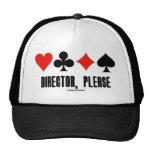 Director, Please (Four Card Suits Bridge Game) Mesh Hats