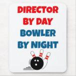Director por el jugador de bolos del día por noche alfombrilla de ratón