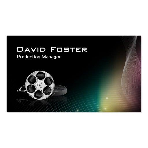 Director Producer Cutter del encargado de producci Plantillas De Tarjeta De Negocio