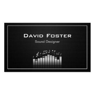 Director sano audio del diseñador de la película tarjetas de visita