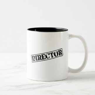 Director Stamp Two-Tone Coffee Mug