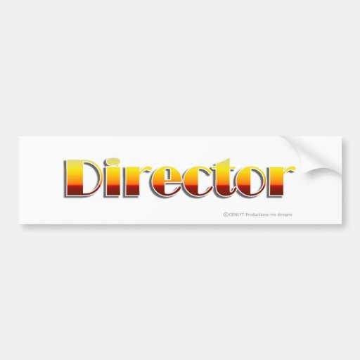Director (Text Only) Bumper Stickers