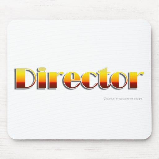 Director (texto solamente) tapetes de raton