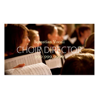 Director Vocalist Music Instructor Teacher del Tarjetas De Visita