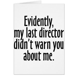 Director Warning Card