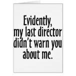 Director Warning Felicitación