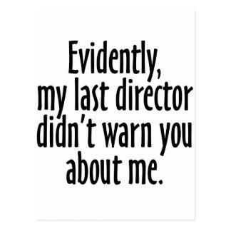 Director Warning Tarjeta Postal