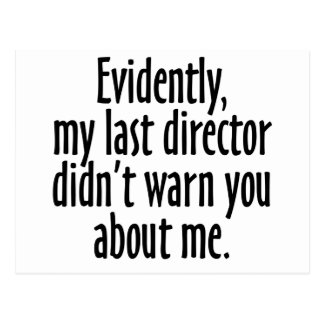 Director Warning Postal