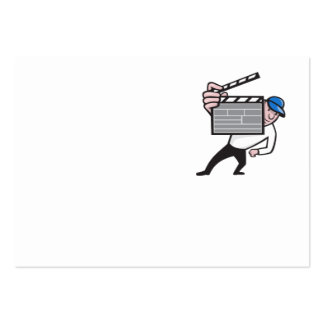 Director With Movie Clapboard Cartoon Business Cards