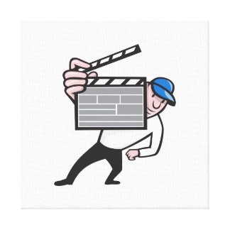 Director With Movie Clapboard Cartoon Canvas Prints