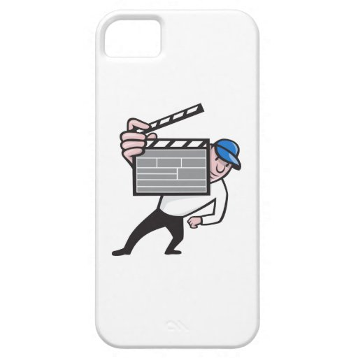 Director With Movie Clapboard Cartoon iPhone 5 Case