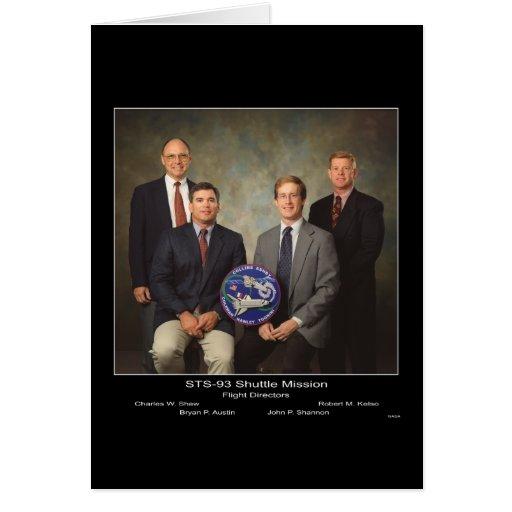 Directores de vuelo STS-93 del misión en la que pa Tarjetas