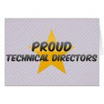 Directores técnicos orgullosos felicitacion