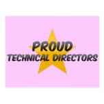 Directores técnicos orgullosos postales
