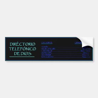 Directorio Telefonico de Dios 2 Bumper Sticker