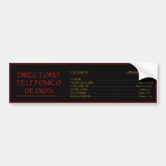 Directorio Telefonico de Dios Bumper Sticker
