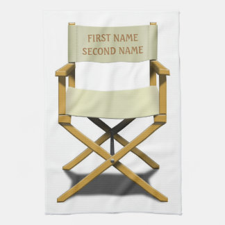 Directors chair design with your choice of name towel
