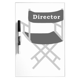 Director's Chair Dry Erase Board
