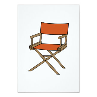 Director's Chair 3.5x5 Paper Invitation Card