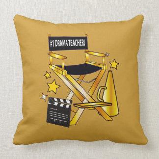 Director's Chair: Number One Drama Teacher Throw Pillow