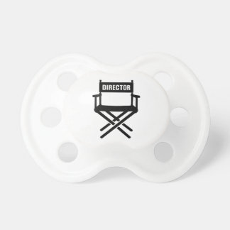 Director's chair baby pacifiers