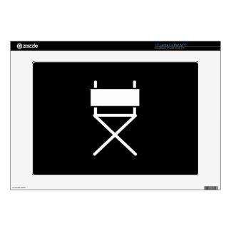 "Director's Chair Pictogram Latop Skin 15"" Laptop Skin"